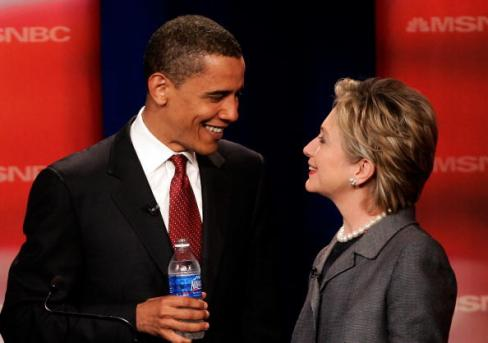 Obama and Clinton - Kiss and Make Up